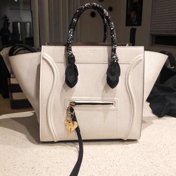 cf8f4e4e1ac Celine Bags   Rare Cline Cabas Phantom White Luggage Tote Bag   Poshmark